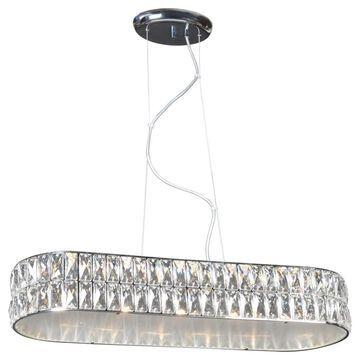 Access Lighting Magari Chrome Modern/Contemporary Geometric LED Mini Pendant Light | 62360LEDD-CH/CRY