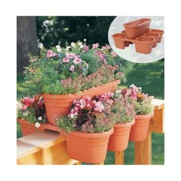Bloem Milano Rail Planter, 4 Pack