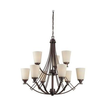 Thomas Lighting Wright - Nine Light 2-Tier Chandelier