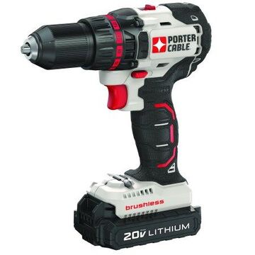 PORTER CABLE 20-Volt Max Lithium-Ion Brushless Compact Cordless Drill, PCC608LB