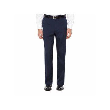 Savane Crosshatch Stretch Straight Fit Flat Front Pants - Men's