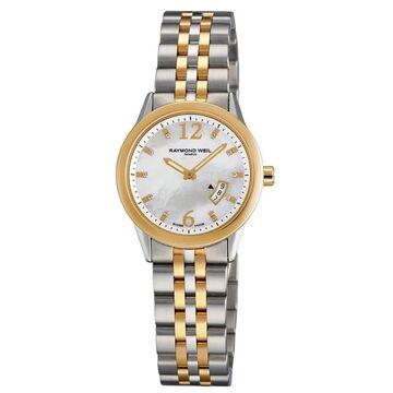 Raymond Weil Women's 5670-STP-05985 'Freelancer' Diamond Two-Tone Stainless Steel Watch