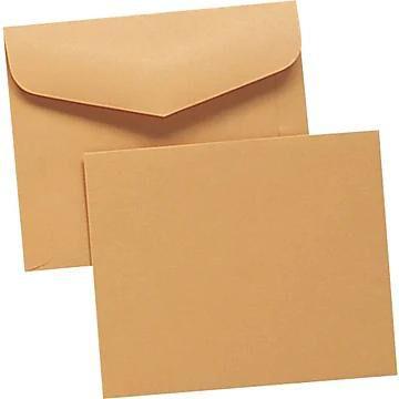 "Quality Park Gummed Open Side Document Envelopes, 10"" x 12"", Brown, 100/Bx"