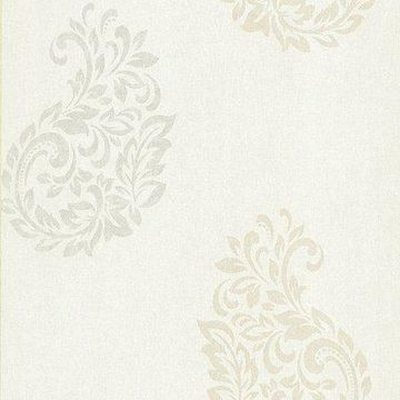 Kenneth James Baja White Paisley Spot Wallpaper