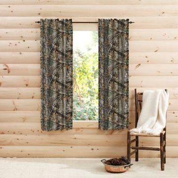 Realtree Edge Camo 63-Inch Rod Pocket Window Curtain Panel Pair in Green