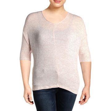 Cupio Womens Knit Striped T-Shirt