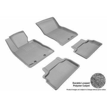 3D MAXpider 2012-2016 Hyundai Genesis Coupe Front & Second Row Set All Weather Floor Liners in Gray Carpet