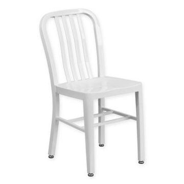 Flash Furniture Metal Chair in White