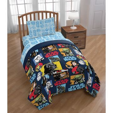 Star Wars Galactic Grid Reversible Twin Comforter