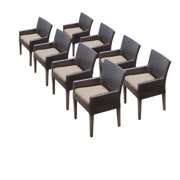 TK Classics Barbados/Belle/Napa Dining Chairs with Arms (Set of 8)