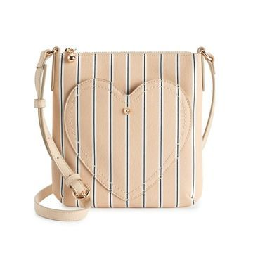 LC Lauren Conrad Heart Pocket Crossbody Bag