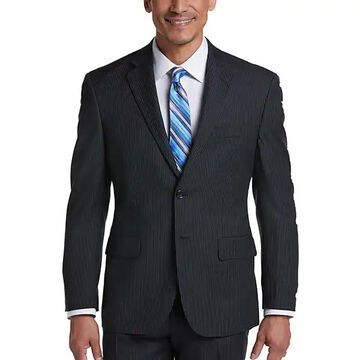 Pronto Uomo Men's Charcoal Stripe Modern Fit Suit - Size: 34 Short - Only Available at Men's Wearhouse