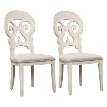 Liberty Furniture Farmhouse Reimagined Splat Back Side Chair-Set of 2