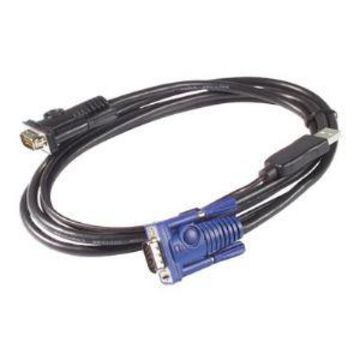 APC - Keyboard / video / mouse (KVM) cable - USB HD-15 - to - HD-15 -