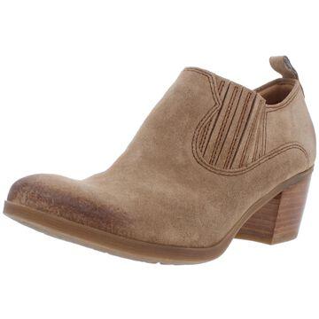 Comfortiva Womens Arnon Block Heel Boot Suede Padded Insole