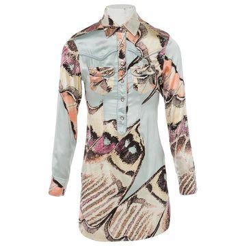 Roberto Cavalli Multicolour Silk Dresses