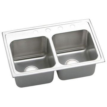 Elkay, Kitchen Sink With 4 Holes, 18
