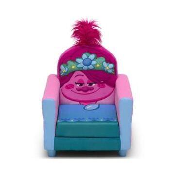 Trolls World Tour Poppy Figural Upholstered Kids Chair by Delta Children