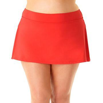 Anne Cole Women's Bikini Bottoms COR - Coral Skirted Bikini Bottoms - Plus