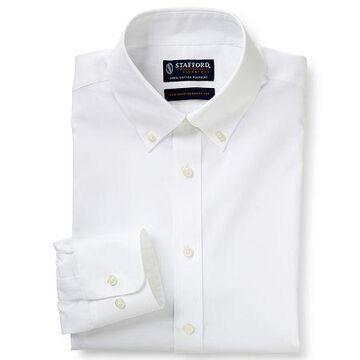 Stafford Mens Non-Iron Cotton Button Down Collar Big and Tall Dress Shirt