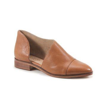 Diba True Women's Ballet Flats TOBACCO - Tobacco No Way Out Leather Flat - Women