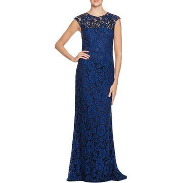 Carmen Marc Valvo Womens Semi-Formal Dress Lace Embellished