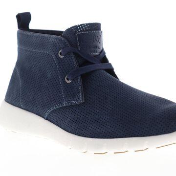 GBX Amaro Mens Blue Nubuck Casual Fashion Sneakers Shoes