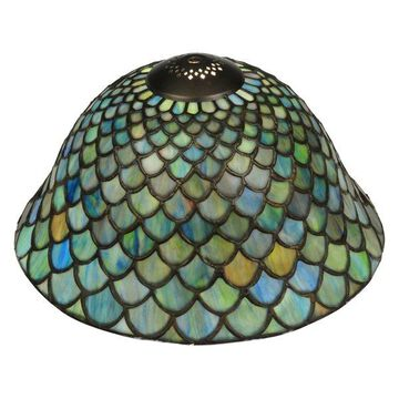 Meyda Tiffany 23953 Tiffany Fishscale Replacement Shade