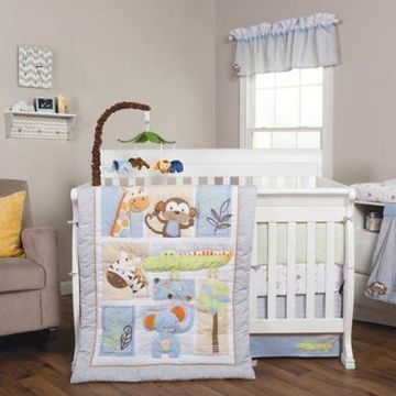 Trend Lab Jungle Fun Animal 6-Piece Crib Bedding Set