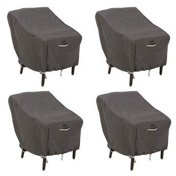 Classic Accessories Ravenna Water-Resistant 25.5 Inch Patio Chair Cover, 4 Pack