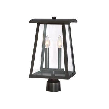 Designers Fountain Calderwood 60-Watt 16.5-in Burnished Bronze Traditional Light Post Lantern | 22636-BNB