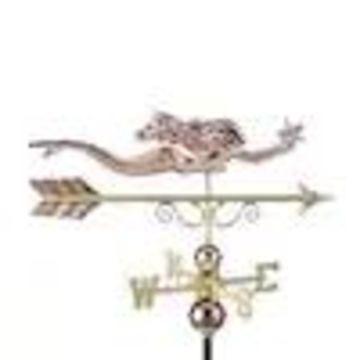 Good Directions Copper Roof-mount Mermaid Weathervane