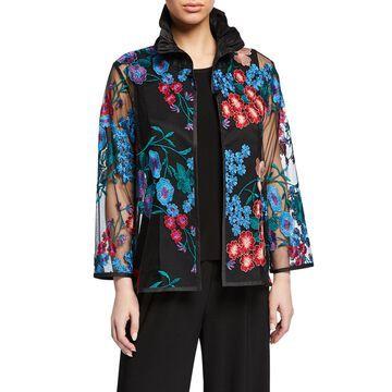 Fresh Flower Embroidery Jacket