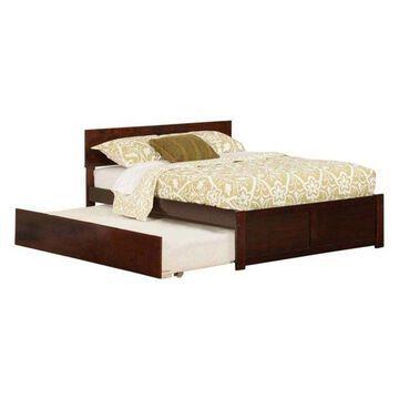Atlantic Furniture Orlando Urban Full Trundle Platform Bed, Walnut