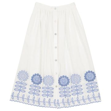 Temperley London White Cotton Skirts