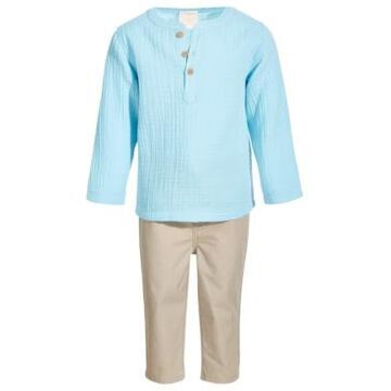 First Impressions Toddler Boys 2-Pc. Henley Shirt & Pants Set, Created for Macy's