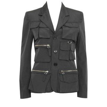 Jean Paul Gaultier Anthracite Synthetic Jackets