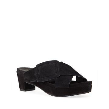 Nanette Crisscross Buckle Slide Sandals