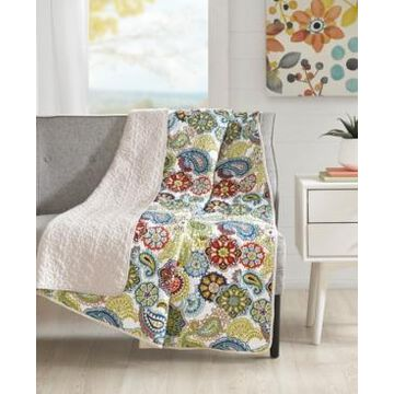 """Mi Zone Tamil 60"""" x 70"""" Quilted Paisley Medallion-Print Throw"""