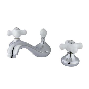 Elements of Design Concord Chrome 2-Handle 8-in Widespread Bathroom Sink Faucet with Drain | ES941CX
