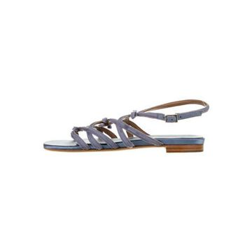 Bow Accents Gladiator Sandals Blue