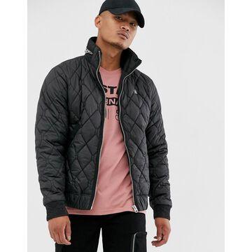 G-Star Meefic quilted jacket with zip detail collar in black
