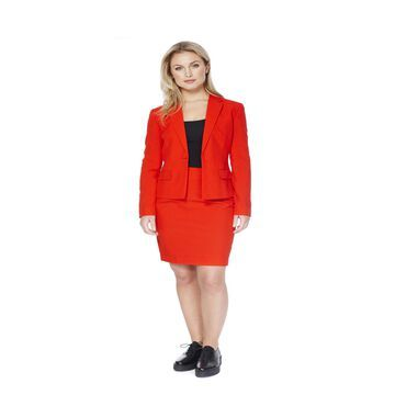 Women's Red Ruby Solid Suit