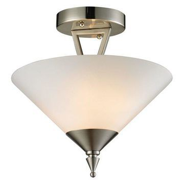 Cornerstone Tribecca 2 Light Semi Flush, Brushed Nickel