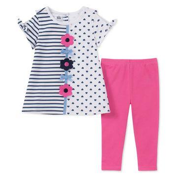 Baby Girls 2-Pc. Printed Cold Shoulder Tunic & Leggings Set
