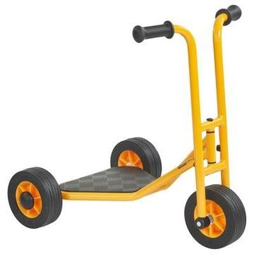 RABO/ECR4Kids Yellow Toddler 3-Wheel Stand-Up Scooter for Backyard & Playground