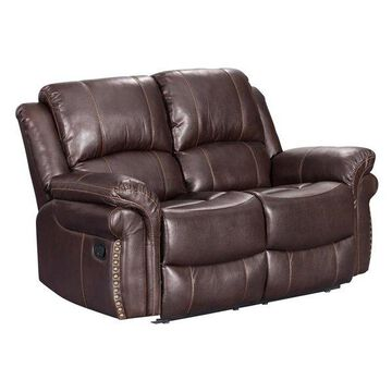 Sunset Trading Glorious Dual Reclining Loveseat in Regal Brown