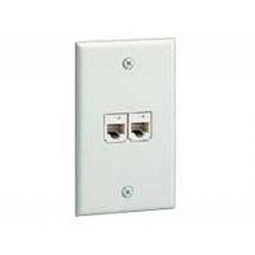 Panduit MINI-COM Classic - Faceplate - white - 2 ports (CFP2WH)