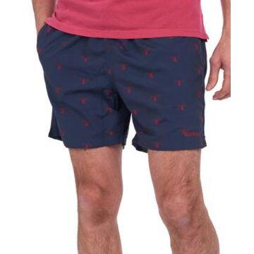 Barbour Men's Coastal Beacon-Print Swim Trunks