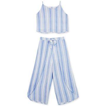 Big Girls 2-Pc. Striped Tank Top & Pants Set